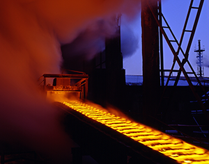 image of hot ingot casting train