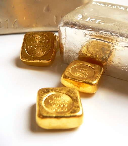 image of gold and silver bullion